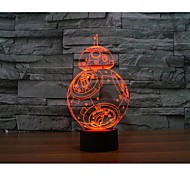cheap -BB - 8 Ball Robot 3 D Projection Lamp LED Acrylic Touch Visual Light
