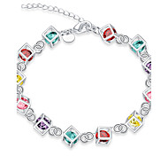 Women's Girls' Chain Bracelet Friendship Fashion Vintage Silver Plated Geometric Jewelry For Wedding Party Special Occasion Anniversary