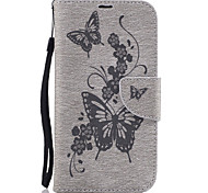 cheap -Case For Motorola Card Holder Wallet with Stand Flip Embossed Full Body Cases Butterfly Hard PU Leather for Moto G4 Plus MOTO G4