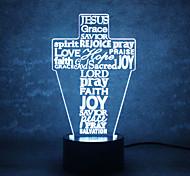 Рождественский бог сенсорного затемнения 3D LED ночник 7colorful украшения атмосфера лампа новизна освещение свет рождество
