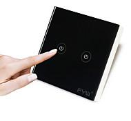 Fyw dois gang toque controlador remoto não há necessidade de cortar fiação de parede uso de ondas de rádio de controle de alta tensão usar