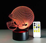 3d свет водить Чикагские Медведи футбол шлем спорта крышка 3d водить ночи свет визуальной лампы Рождественский подарок для детей