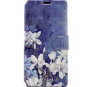 cheap -For Sony Xperia XA E5 Case Cover White Flowers Pattern HD Painted Voltage TPU Process PU Skin Phone Case Xperia C6 Ultra
