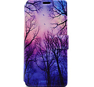 cheap -For Sony Xperia XA E5 Case Cover Tree Pattern HD Painted Voltage TPU Process PU Skin Phone Case Xperia C6 Ultra