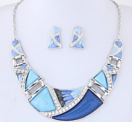 cheap -Women's Geometric Jewelry Set - Fashion, Euramerican Include Rainbow / Green / Blue For Party / Daily