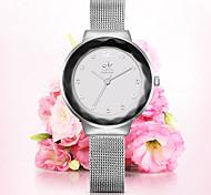SK Women's Diamonds Wrist Watches Top Luxury Brand Ladies Geneva Quartz Clock Female Bracelet Wristwatch