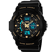 SKMEI 0955 Men's Woman Watch Double Significant Outdoor Sports Watch Mountain Climbing Waterproof Electronic Watch Male LED Students Multi - Function