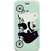 For Apple iPhone7 7 Plus Case Cover Cute Bear Pattern HD Painted Voltage TPU Process PU Skin Phone Case