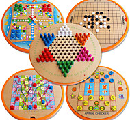 cheap -Board Game Toys Circular Wood Pieces Children's Unisex Gift