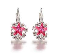 2017 New Popular Crystal Rhinestone Star Earrings Jewelry  Fashion Wedding Party Accessories