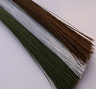 cheap -50Pcs/Set   0.45Mm 30Cm High Quality Paper Covered Artificial Branches Twigs Iron Wire For DIY  Nylon Flower Accessory