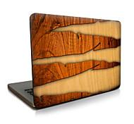 Para macbook air 11 13 / pro13 15 / pro con retina13 15 / macbook12 grietas de grano de madera descrito apple laptop case