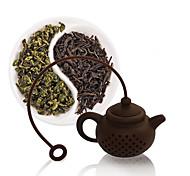 1Pcs  High Quality New Creative Silicone Tea Bag Tea Pot Shape Tea Filter Infusers Safe Clean Random Color