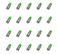 20pcs t10 9 * 5050 smd ha condotto la luce verde dc12v della luce blub dell'automobile