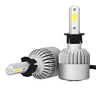 cheap -2x H3 LED Headlight 72W 7600LM Bulbs 6000K White CAR Fog Light Headlight COB S2