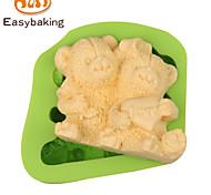 Animal Mould LOVE Teddy Bears Fondant Silicone Molds for cake decorating Colour Random