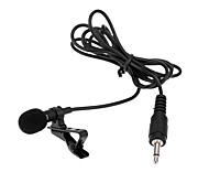 Super Lapel Lavalier Tie Clip Metal Mono Microphone High Quality 3.5mm Wired with Collar Clip Microphones Mic for Lound Speaker