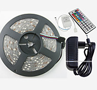 abordables -ZDM® Tiras de Luces RGB 150 LED Blanco Cálido Blanco Verde Amarillo Azul Rojo Control remoto Cortable Regulable Impermeable Color