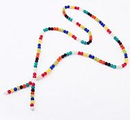 Жен. Пряди Ожерелья Y-ожерелья шарф ожерелья Бижутерия Одинарная цепочка Акрил Базовый дизайн Стразы Природа Дружба Английский Винтаж