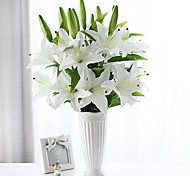 cheap -Artificial Flowers 1 Branch Pastoral Style Lilies Tabletop Flower