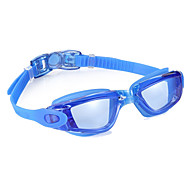 Swimming Goggles Anti-Fog Waterproof Adjustable Size Silica Gel PC Black Blue Light Gray Light Blue