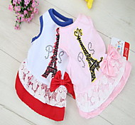 Кошка Собака Футболка Одежда для собак Очаровательный На каждый день Английский Белый Розовый