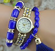 Women's Fashion Watch Bracelet Watch Quartz Plastic Band Bangle Black White Red Purple Beige Navy