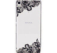 cheap -Case For Sony Xperia M2 Sony Sony Xperia XA IMD Transparent Pattern Back Cover Lace Printing Soft TPU for Sony Xperia XA Sony Xperia M2