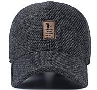 Недорогие -Шляпа шерсти среднего возраста мужская зимняя наружная бейсболка уха