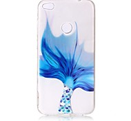 For Huawei P8 Lite (2017) P10 Case Cover Blue Fish Tail Pattern Painted Relief High Penetration TPU Material Phone Case P10 Lite P10 Plus P9 P9 Lite