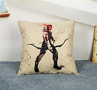 cheap -1 pcs Linen Pillow Case Pillow Cover, Graphic Prints Embellished&Embroidered Other Casual Accent/Decorative Office/Business