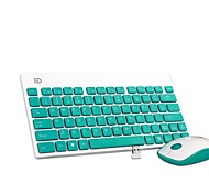 K1500 Ultra Portable Silent Botton Office Wireless Keyboard and Mouse Combo