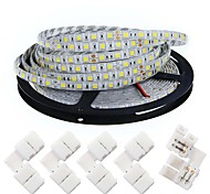 cheap -KWB Flexible LED Light Strips 300 LEDs Warm White White Cuttable Dimmable Self-adhesive Suitable for Vehicles Linkable DC 12V