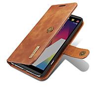 Pour lg g6 v20 sacoche porte-carte portefeuille avec support flip corps plein magnétique corps solide cuir véritable dur