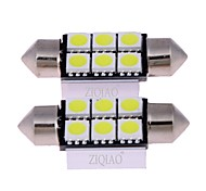 cheap -ZIQIAO Car Light Bulbs W SMD 5050 lm Interior Lights
