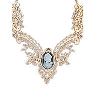 Жен. Ожерелья-бархатки Ожерелья с подвесками Y-ожерелья Синтетический сапфир Бижутерия Резина Сплав Базовый дизайн Стразы Природа Дружба