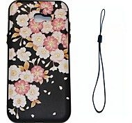 For Samsung Galaxy A7 A3 (2017) Case Cover Flower Pattern Fuel Injection Relief Plating Button Thicker TPU Material Phone Case A3 A5 (2016)