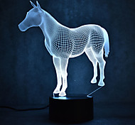 Horse Turtles Touch Dimming 3D LED Night Light 7Colorful Decoration Atmosphere Lamp Novelty Lighting Light