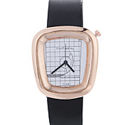 cheap -Women Luxury Brand Fashion Square Casual Quartz Unique Stylish Watches Small Female Leather Sport Clock Men
