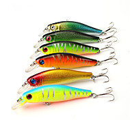"6 pcs Hard Bait Minnow Fishing Lures Hard Bait Minnow Lure Packs Multicolored g/Ounce mm/3-5/16"" inch,Hard Plastic PlasticBait Casting"