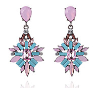 cheap -Women's Drop Earrings Rhinestone Geometric Bohemian Elegant Fashion Resin Rhinestone Zinc Alloy Geometric Drop Jewelry Christmas Gifts