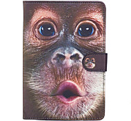 For Apple iPad Mini 4 3 2 1 Case Cover Monkey Pattern Painted Card Stent Wallet PU Skin Material Flat Protective Shell