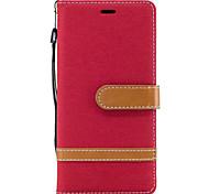 Для Sony Xperia XA1 XZ случае покрытия Джинсовый шаблон шить цвет карты стента ПУ материала телефон дела