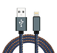 cheap -USB 2.0 Lightning USB Cable Adapter Braided High Speed Cable For Macbook iPad MacBook Air iPhone MacBook Pro 100 cm Aluminum Nylon
