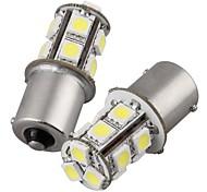 cheap -2Pcs 1156 13*5050SMD LED Car Light Bulb Warm Light DC12V