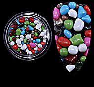 Недорогие -1pc разлил новый красочный камень из частиц камня