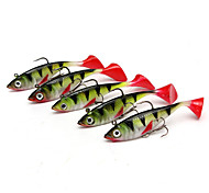 """5 pcs Fishing Lures Shad Multicolored g/Ounce,85 mm/3-5/16"""" inch,Silicon Bait Casting Lure Fishing"""