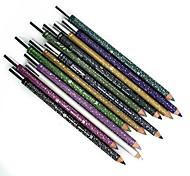 12 colores impermeabilizan el lápiz del eyeliner del maquillaje lápiz natural duradero y trazadores de líneas del trazador de líneas del ojo