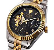Tevise Men's Couple's Fashion Watch Mechanical Watch Calendar Water Resistant / Water Proof Luminous Stainless Steel Band Vintage