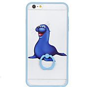 Для кольца держатель картины случае задняя крышка случае морские львы жесткий ПК для Apple iphone 6s плюс iphone 6 плюс iphone 6s iphone 6
